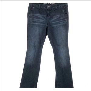 Simply vera wang boot cut dark wash jeans sz.8